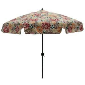 Plantation Patterns 7 1/2 Ft. Patio Umbrella In Lois Floral 9714