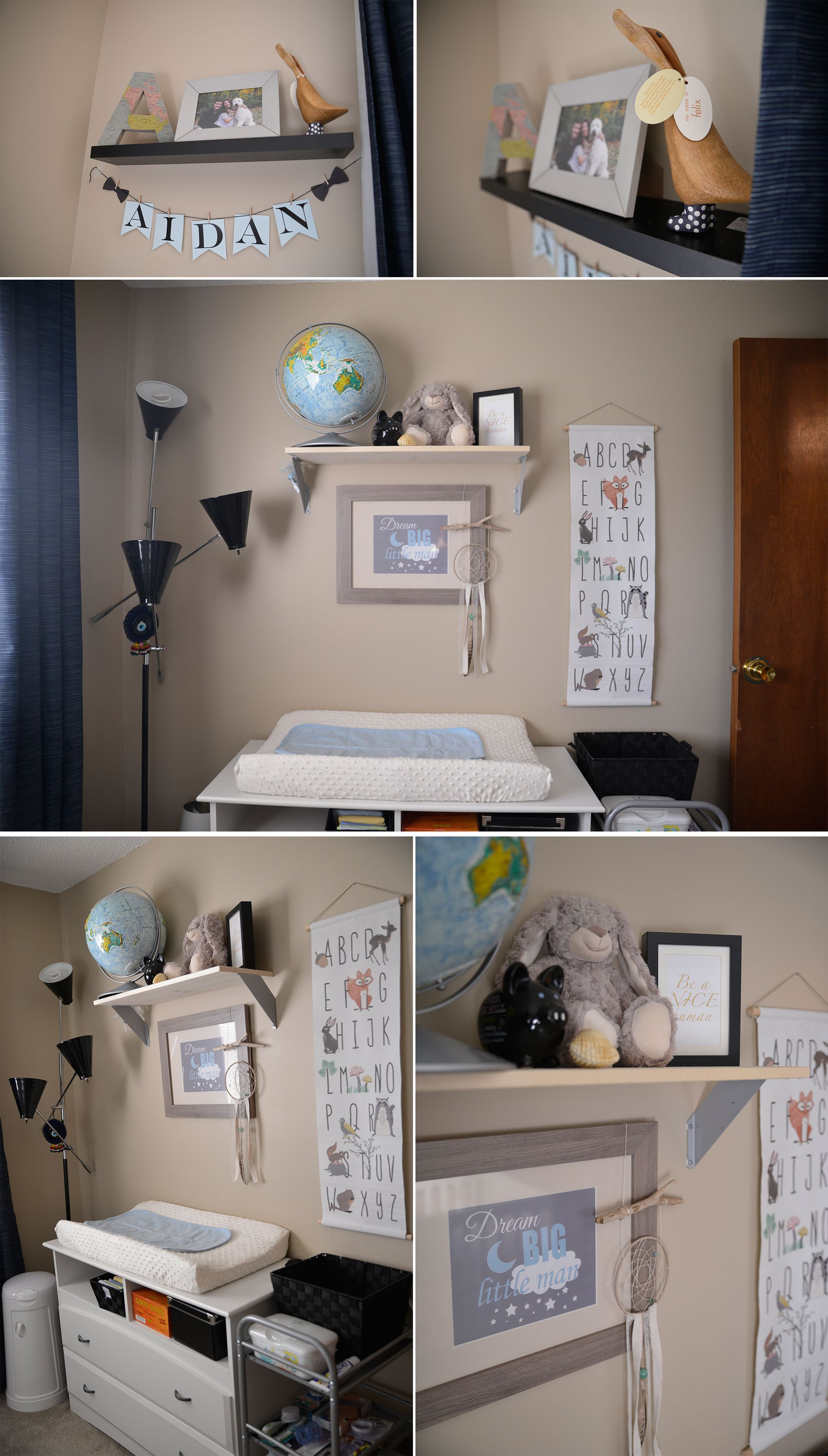 World traveller themed boy nursery with Ikea Map