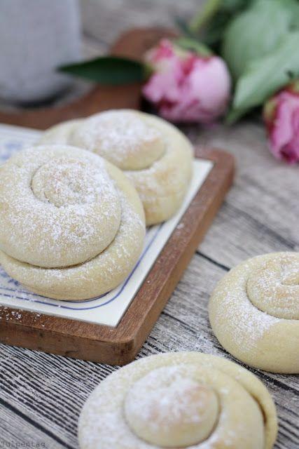 Photo of Spanish ensaimadas. My variant of the yeast pastry
