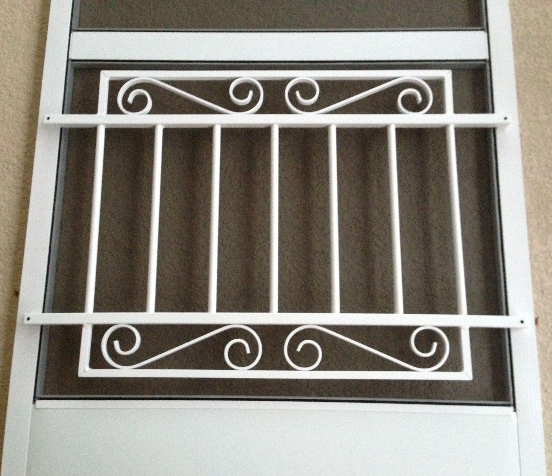 All weather mini garden gate screen door grille in white