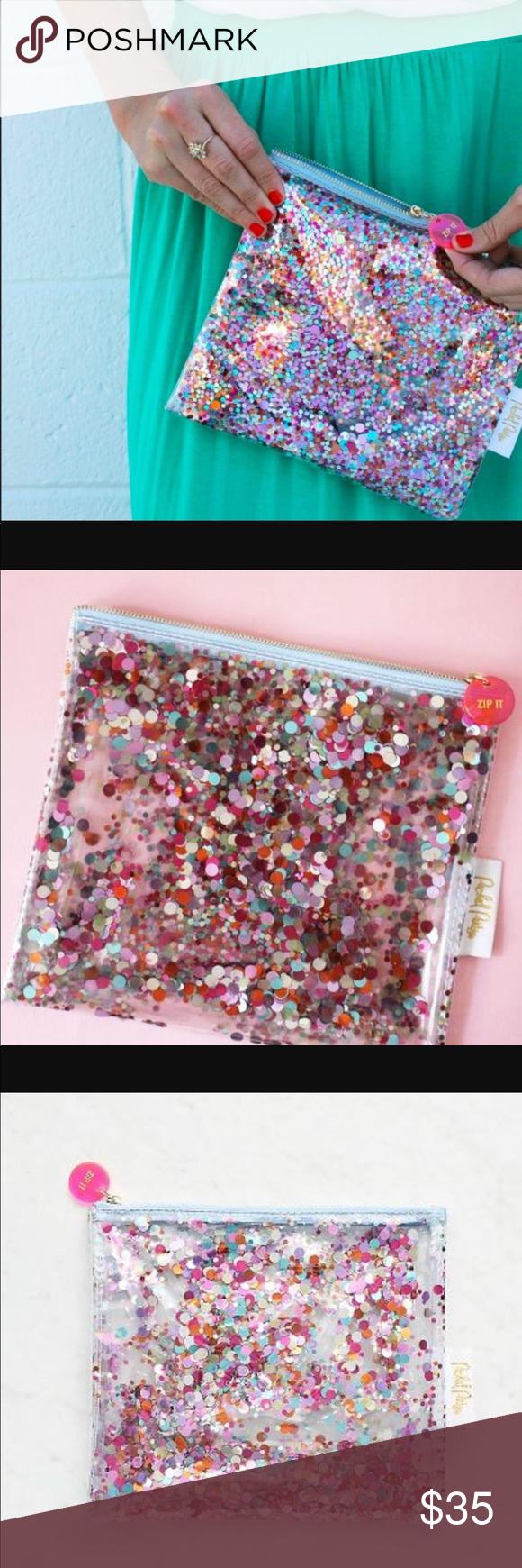 Celebration confetti makeup pouch NWT Makeup pouch