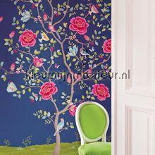 PIP Morning Glory Blauw Behang 341093 fotobehang PiP Wallpaper III Eijffinger