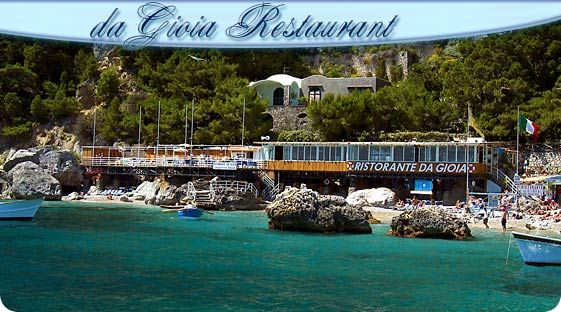 Da Gioia- great beach club and restaurant in Marina Piccola, Capri, Italy- have your hotel concierge arrange lunch- bring swimsuit and a change of clothes and your appetite!