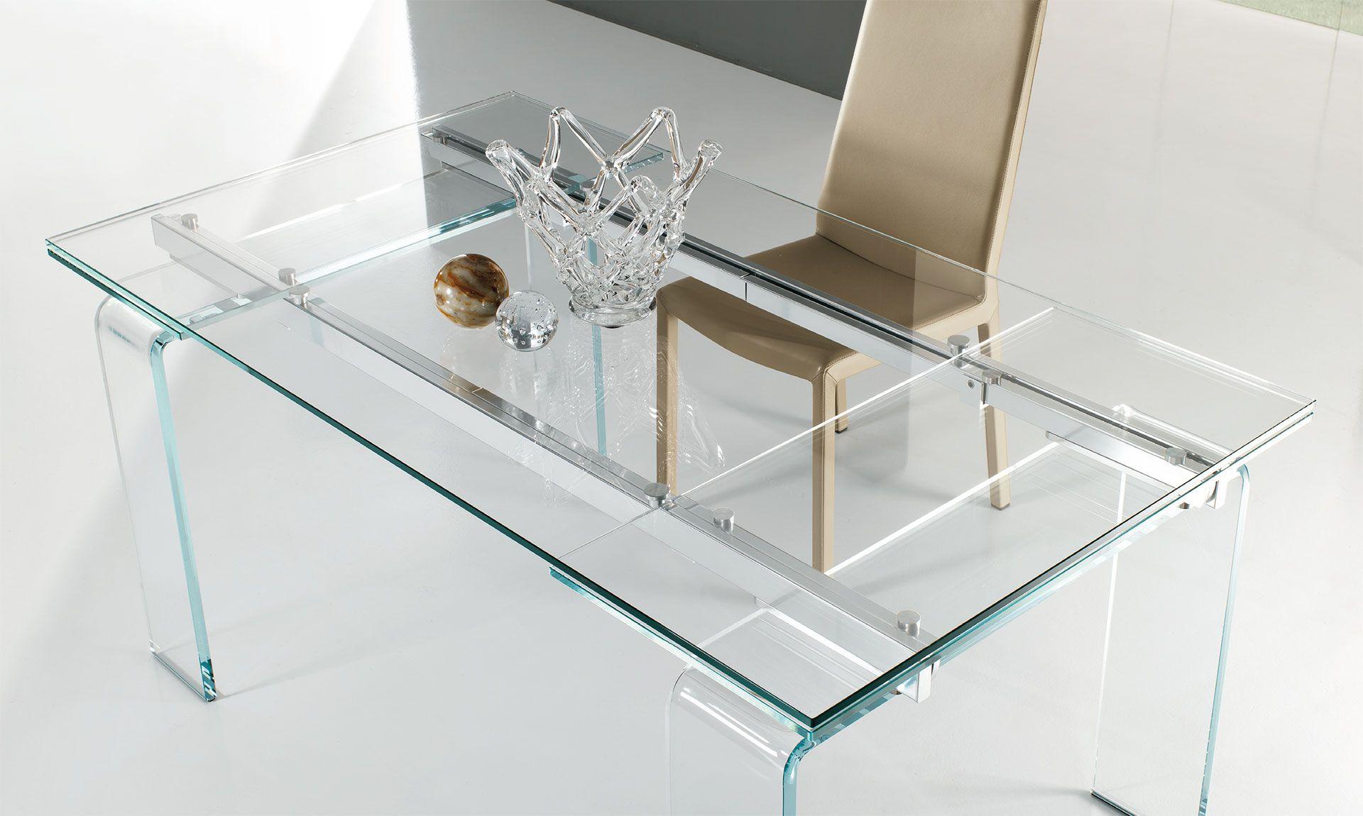 Tavolo in cristallo plano anch'esso allungabile, il tavolo plano è ...
