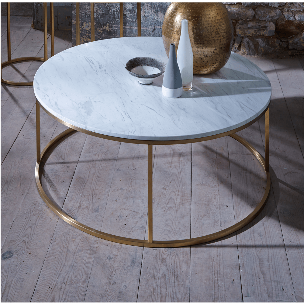 Slimline Retro Marble with Brass Furniture Range online Buy