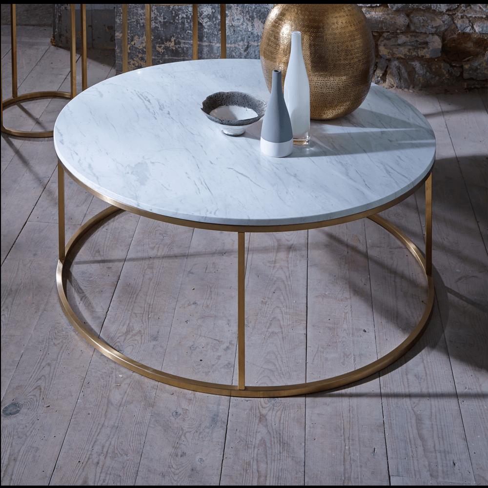 Slimline Retro Marble With Brass Furniture Range Online | Buy Furniture  With Zurleys.co. Marble Coffee TablesSquare ...