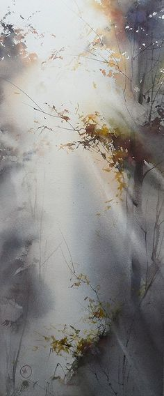 """Ilya Ibryaev Beautiful effect of light simplicity. Try this to try not to """"overwork"""" your paintings."""