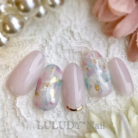 luludynailのネイルデザイン[No 3140958] ネイルブック is part of Natural nails Square Round - キラキラネイル フィルムクリアネイル ネイルデザインを探すならネイル数No 1のネイルブック