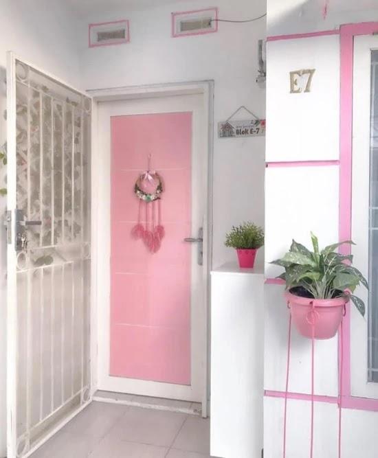 Kombinasi Warna Rumah Pink