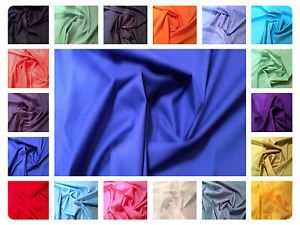100/% Cotton Poplin Fabric Solid Plain