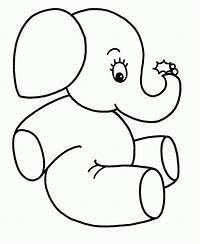 Dibujos Colorear Ninos 4 Anos Seonegativo Com Elefantes Para