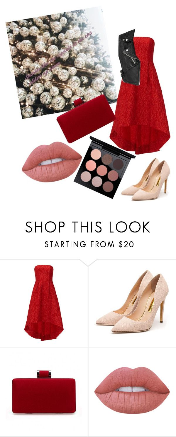 """Untitled #25"" by star-kissed ❤ liked on Polyvore featuring ML Monique Lhuillier, Burberry, Rupert Sanderson, Lime Crime and MAC Cosmetics"