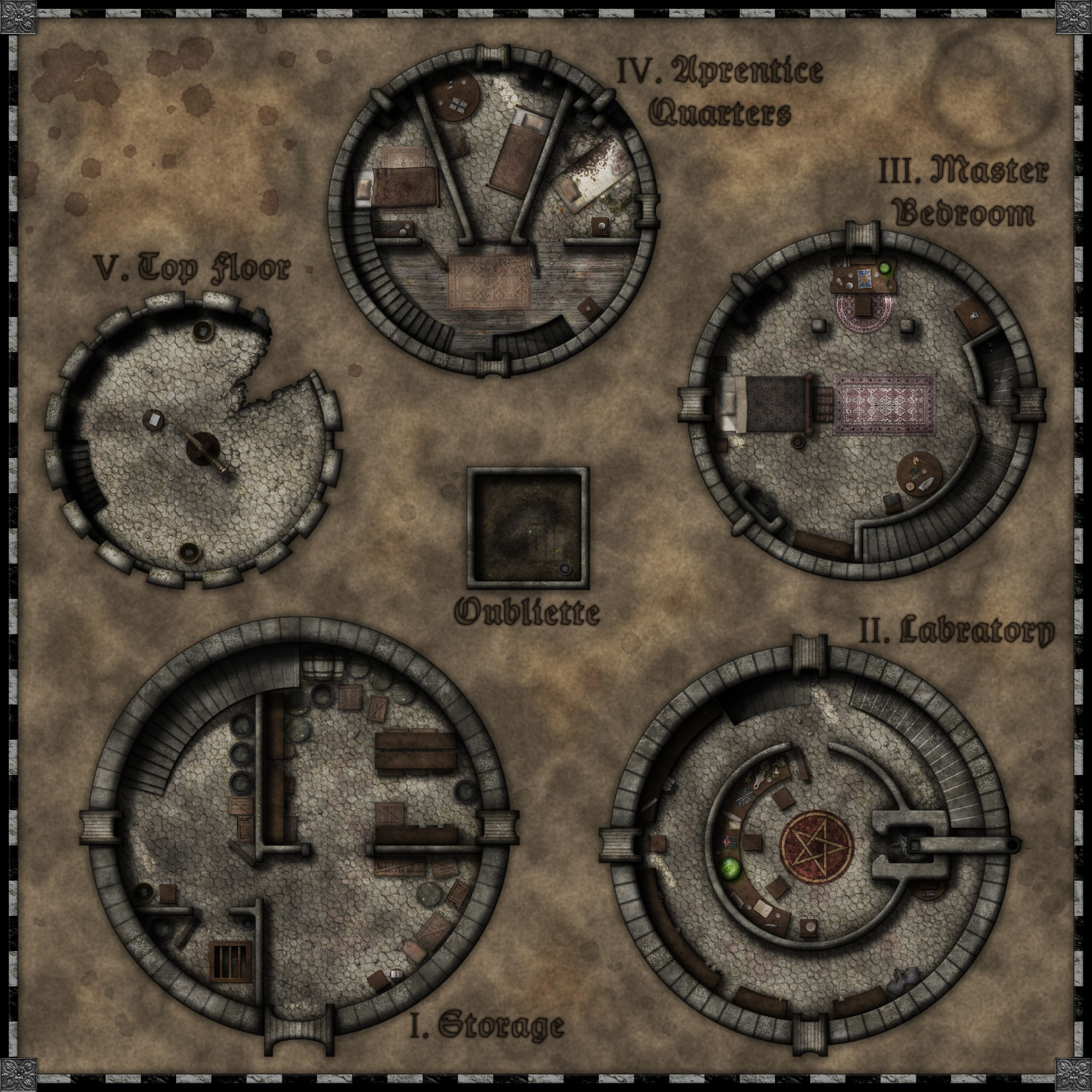 Photo 7 Of 11 From All Too Many Battlemaps Fantasy Map Dungeon Maps Tabletop Rpg Maps