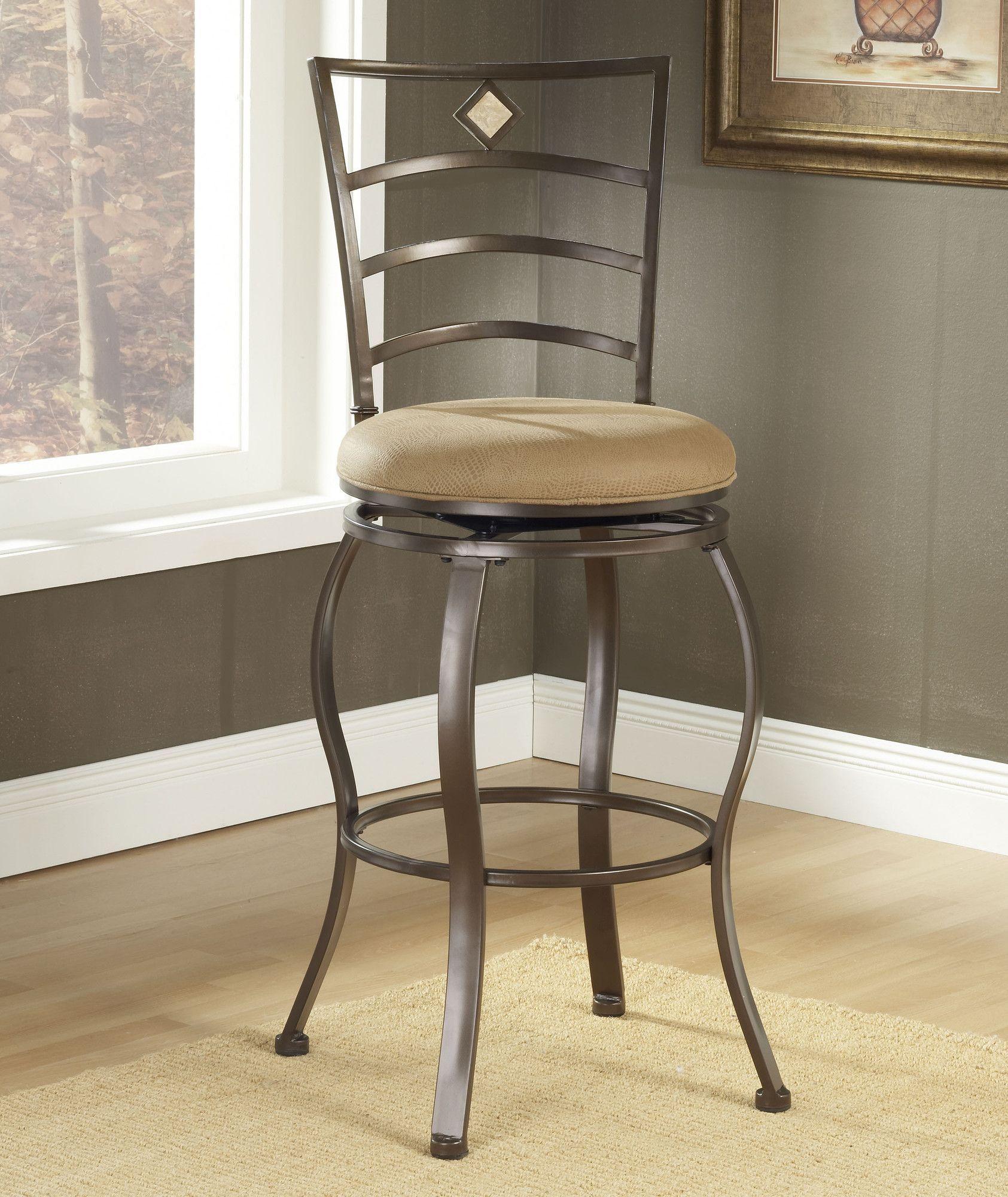 Boundary bay 24 swivel bar stool with cushion