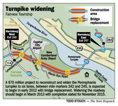 The Ptc Has Been Rebuilding The Original Turnpike And One Of The Sections To Be Rebuilt Is Between Exit 242 Harrisburg Susquehanna River Susquehanna Harrisburg