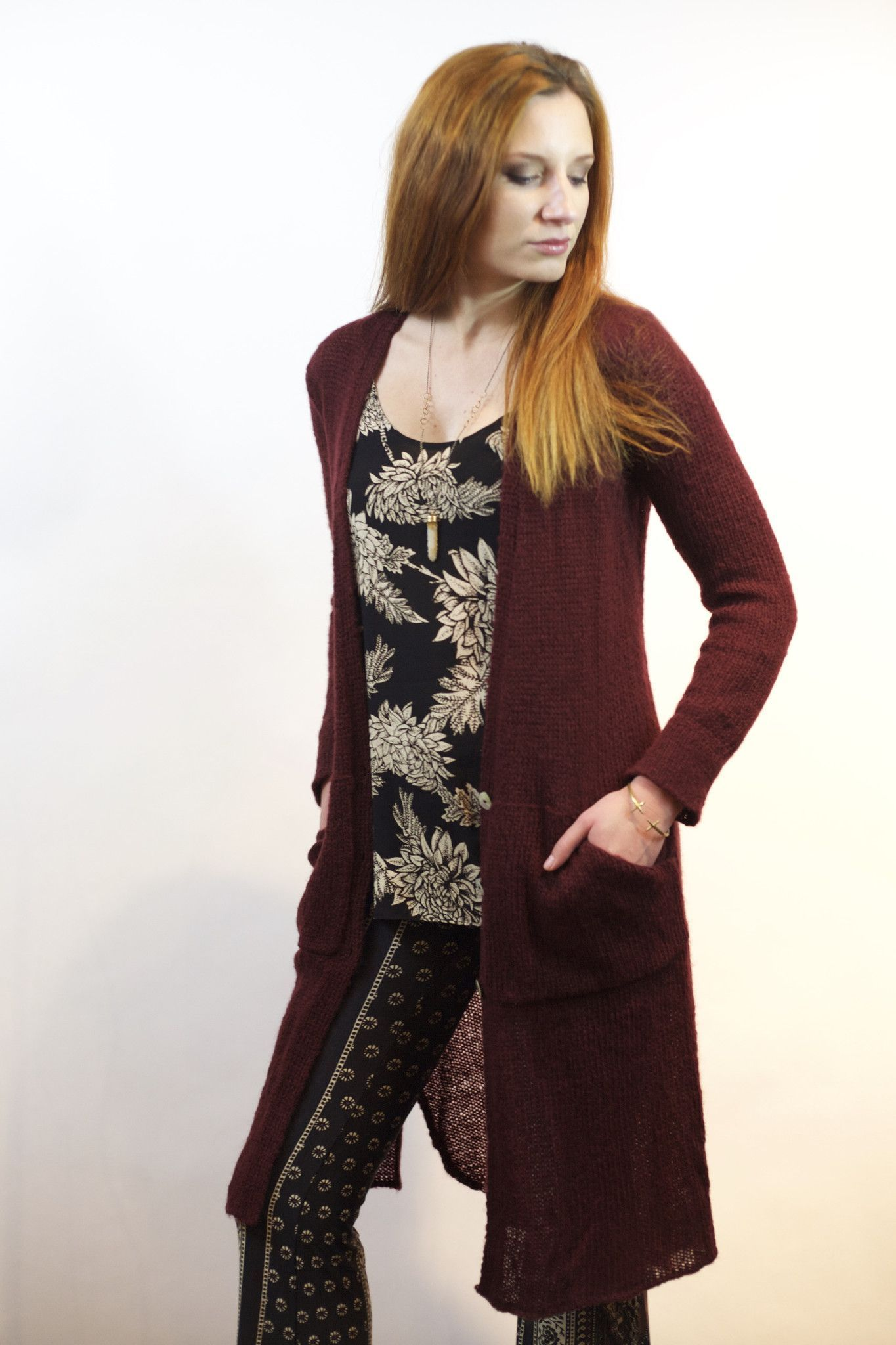 Maxi Cardigan- Burgundy | Maxi cardigan, Boho hippie and Hand washing