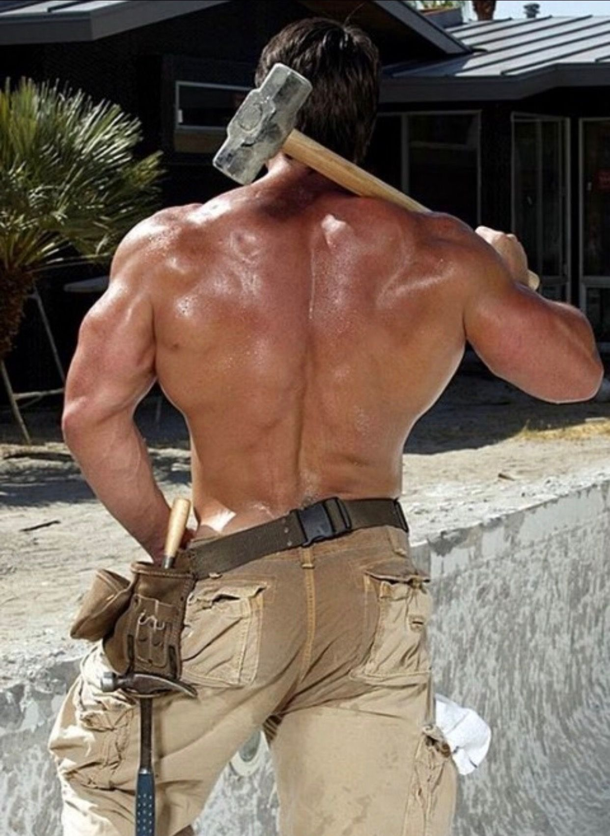 Male construction worker sexy