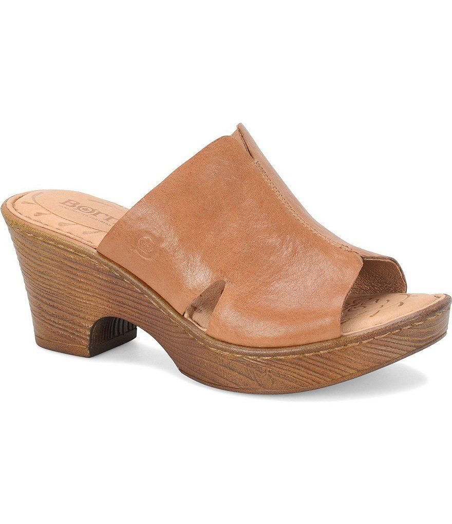 0212563248b0 Shop for Born Crato Leather Triangular Cutout Peep Toe Wooden Block Heel  Slides at Dillards.com. Visit Dillards.com to find clothing