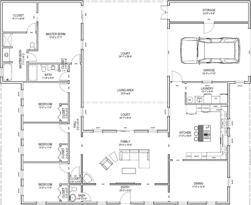 Custom House Plan 2 375 Sq Ft That I Created With Chief