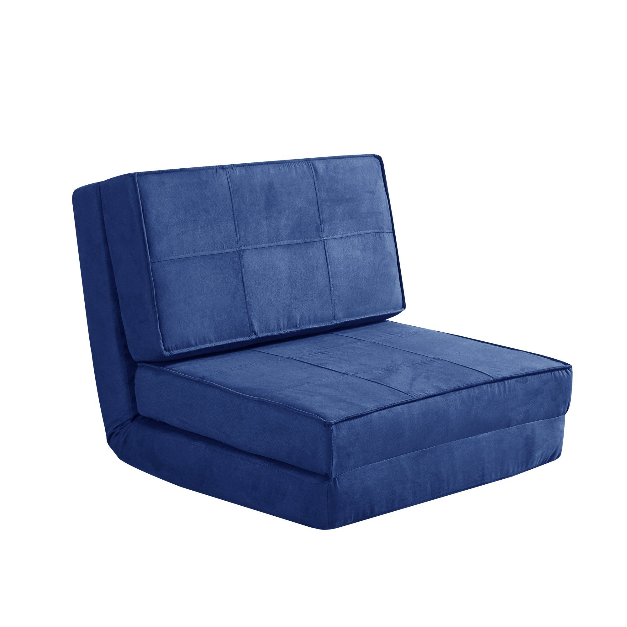 Your Zone Navy Flip Chair Available In Multiple Colors Walmart Com In 2020 Kids Lounge Chair Small Apartment Room Sleeper Chair