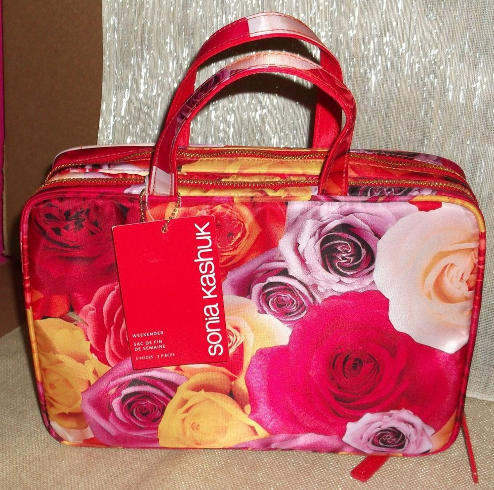 Calvin Klein Sunflower Cosmetic Case Makeup Bag Boutique