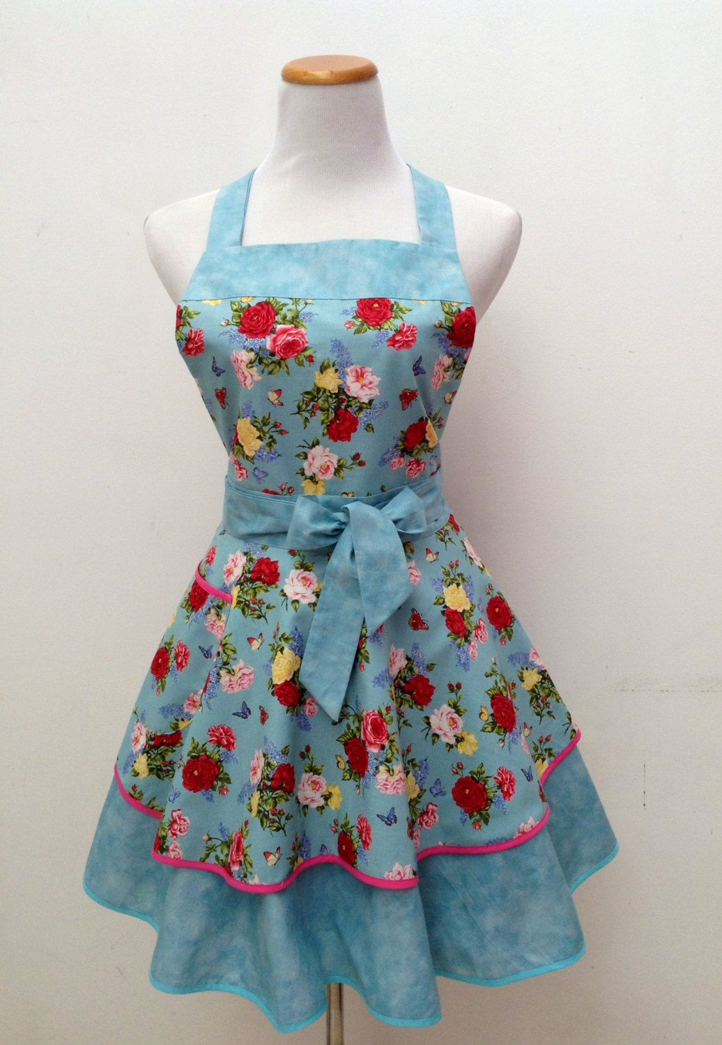 Cute apron| Ruffled apron| Retro Apron|frilly apron/FREE SHIPPING by ...