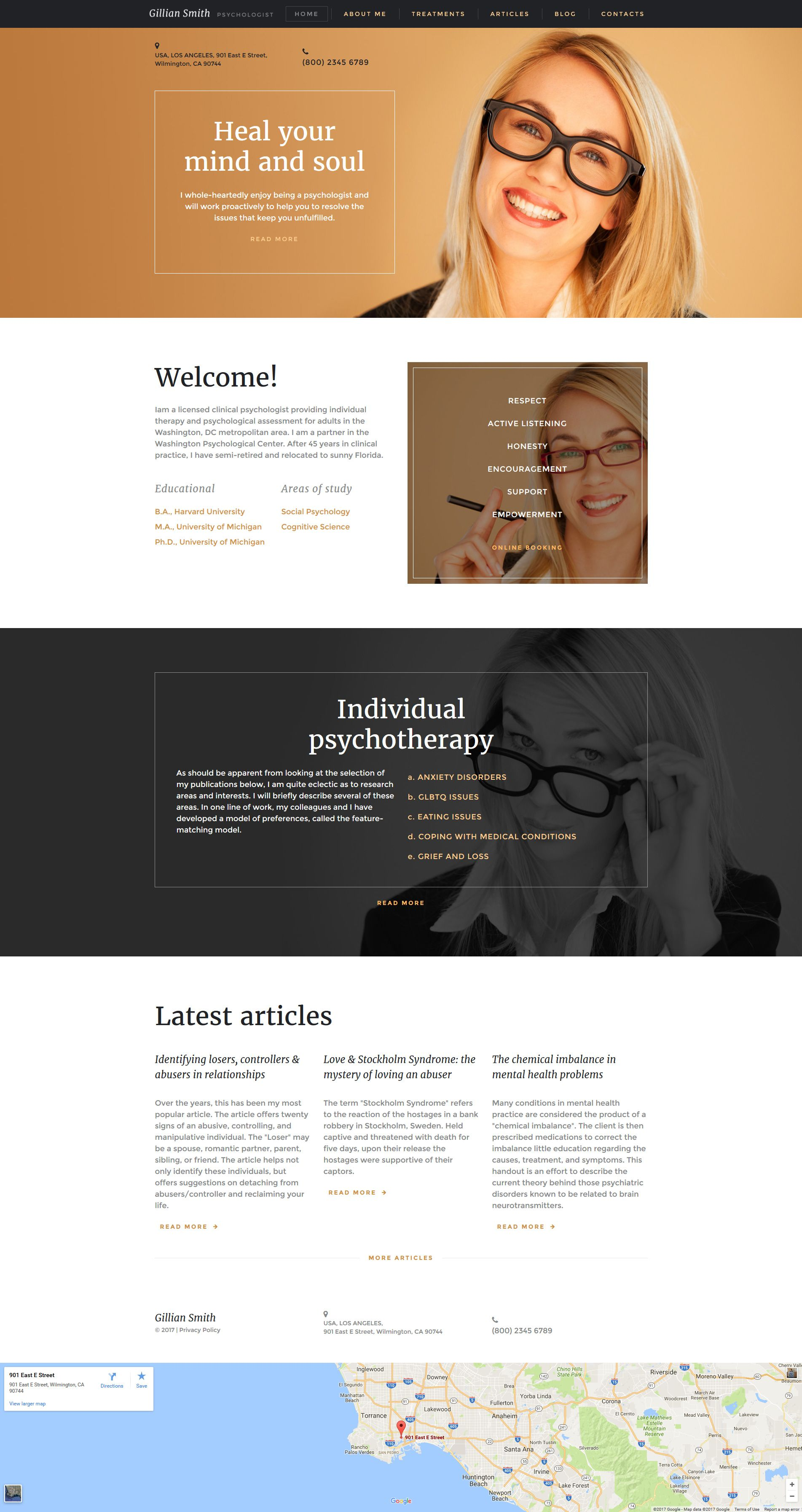Psychologist Responsive Moto CMS 3 Template #59433 - https://www ...