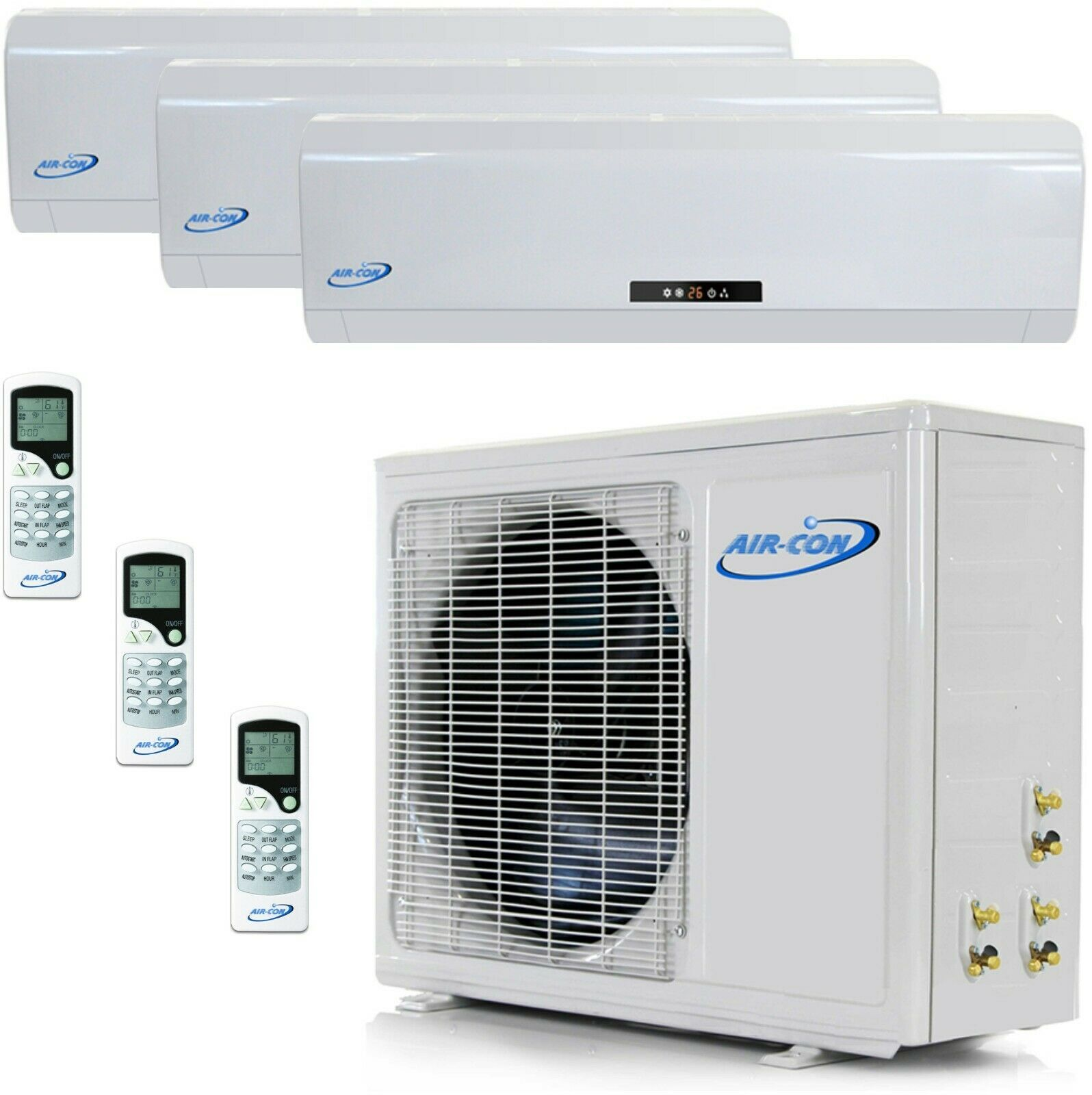 3 Zone Mini Split in 2020 Ductless air conditioner, Air