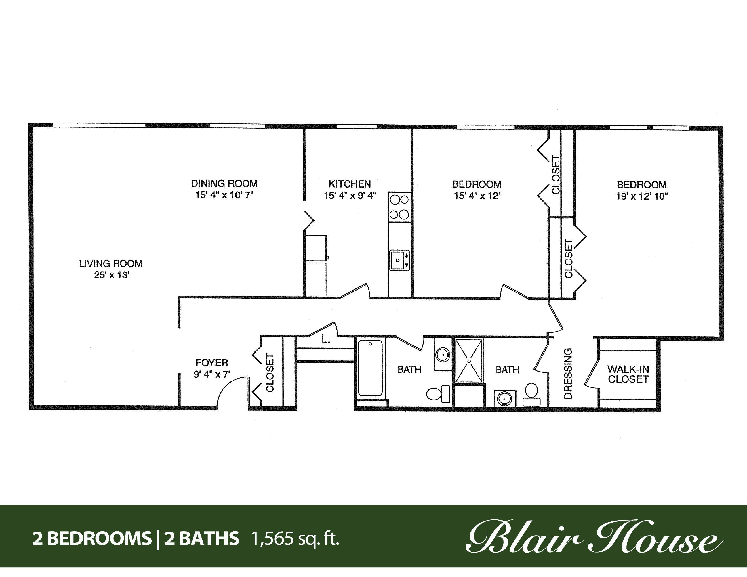 4 Bedroom 2 Bath House Plans