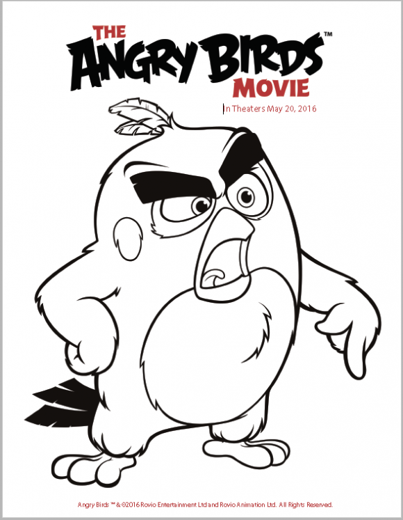 angry birds movie coloring pages The Angry Birds Movie Trailer Coloring Pages and Activity Sheets  angry birds movie coloring pages