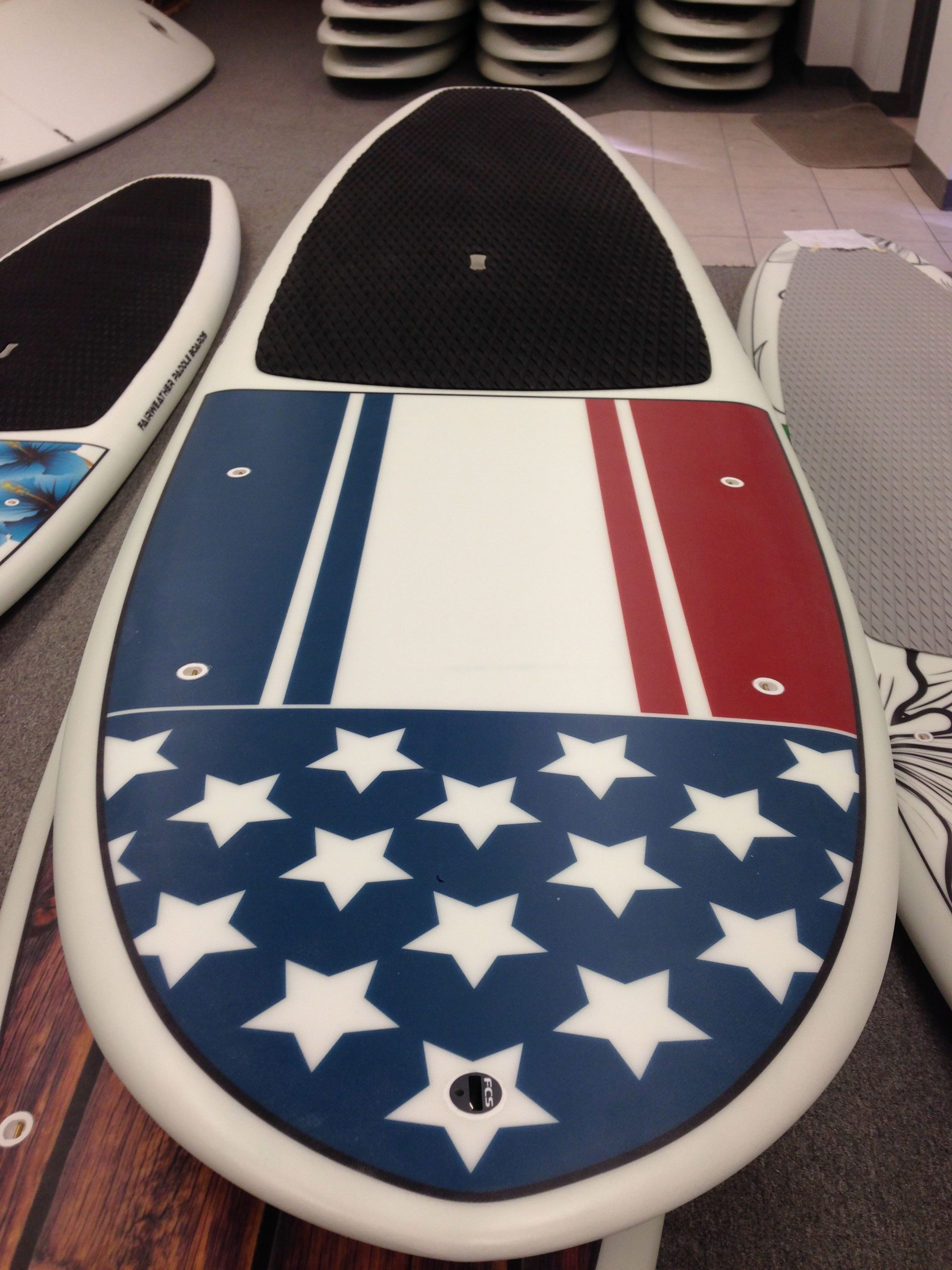 Fairweather Paddle Boards American Flag Paddle Boarding