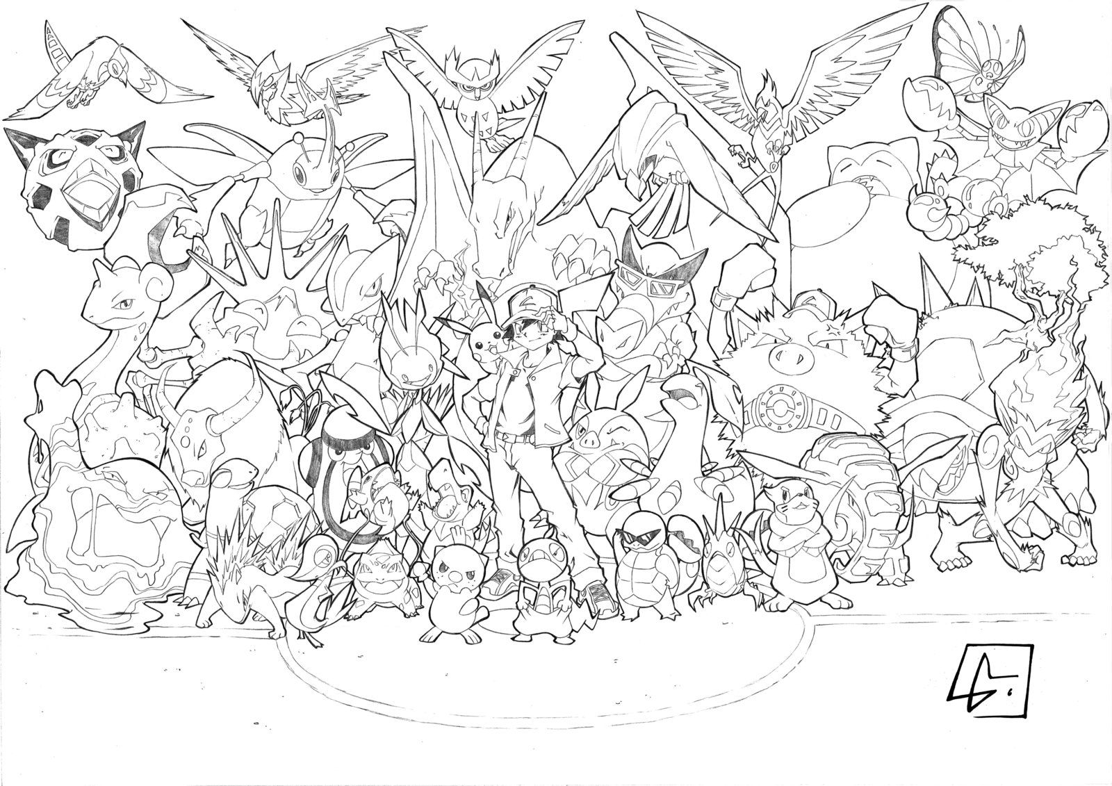 All Ash Pokemon Pokemon Coloring Pages Pokemon Coloring Pokemon Drawings