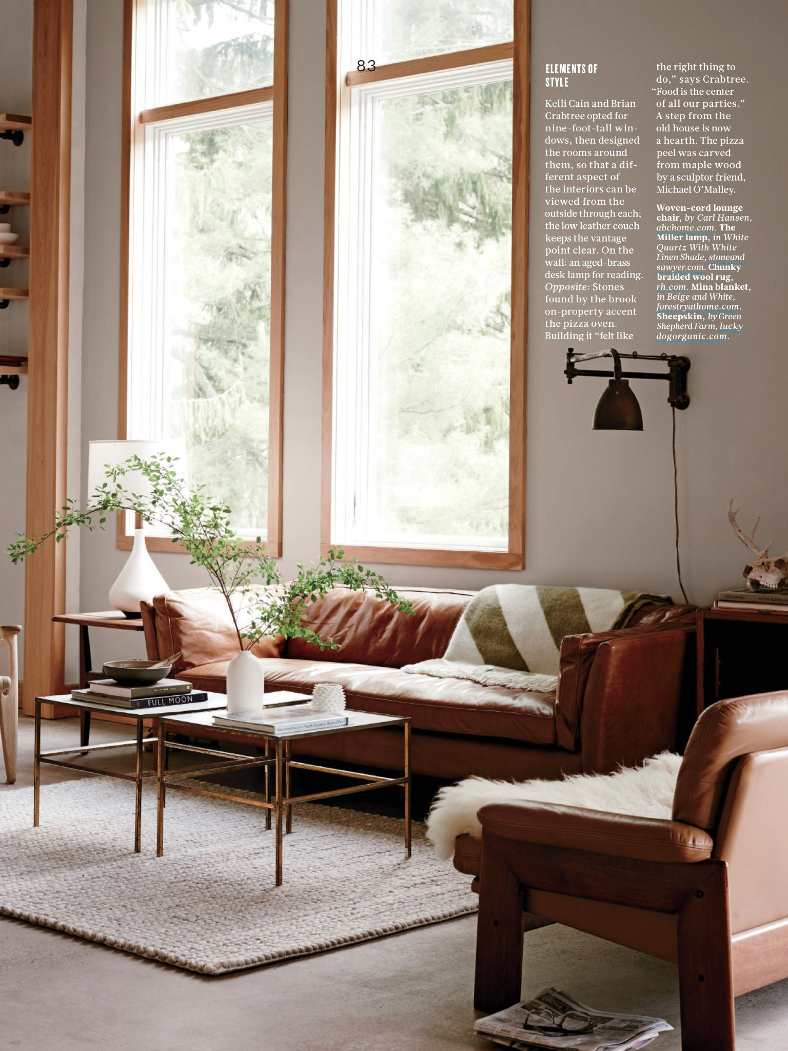 Living room of 100-year-old farmhouse renovated by Kelli ...