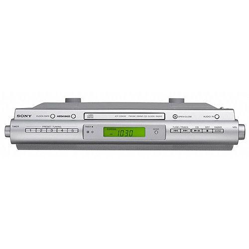Sony Under Cabinet Kitchen Cd Player Clock Radio