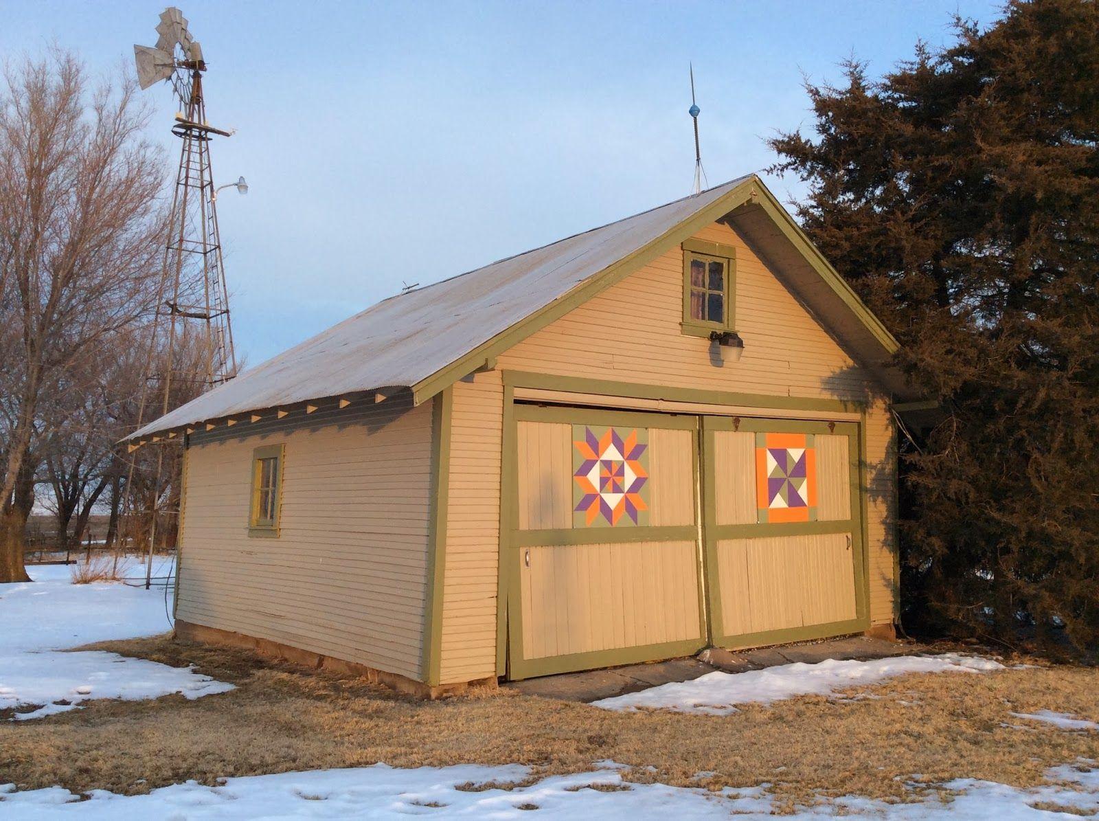 Kansas pottawatomie county fostoria - Kansas Flint Hills Quilt Trail Dickinson County Double Pinwheel And Framed