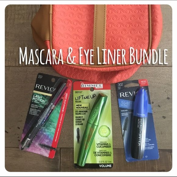 feb1fc3f0b4 REVLON RIMMEL MASCARA EYE LINER BUNDLE LOT BLACK Brand new in packing! This  listing includes