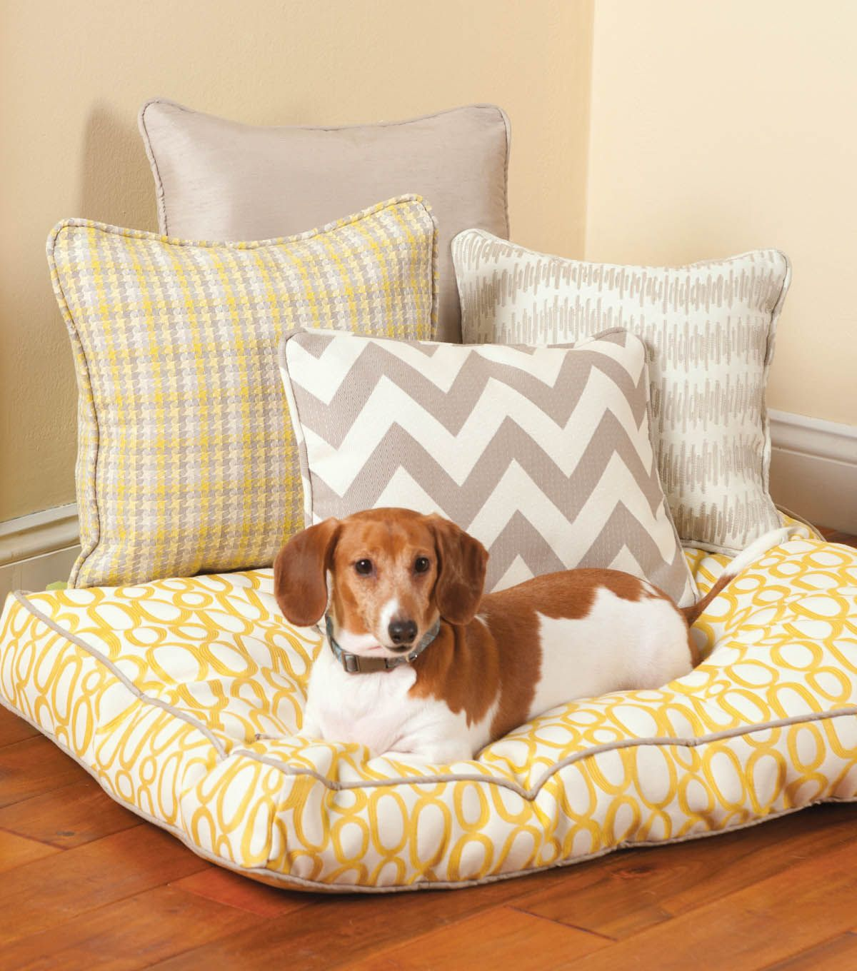 Box Cushion Dog Bed Dog bed sewing pattern, Dog bed