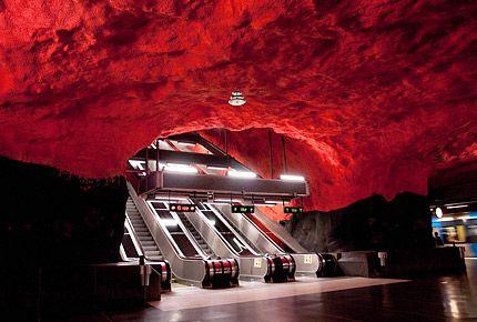 Solna Centrum station, Stockholm T-Bana
