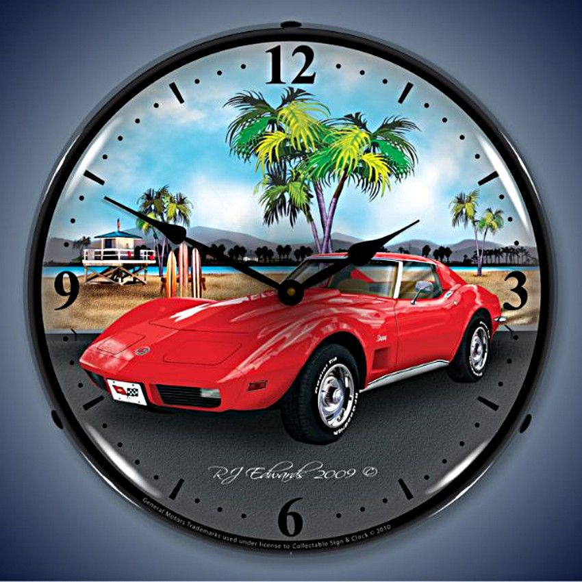Pin On Corvette Neon Backlit Wall Clocks And Neon Signs