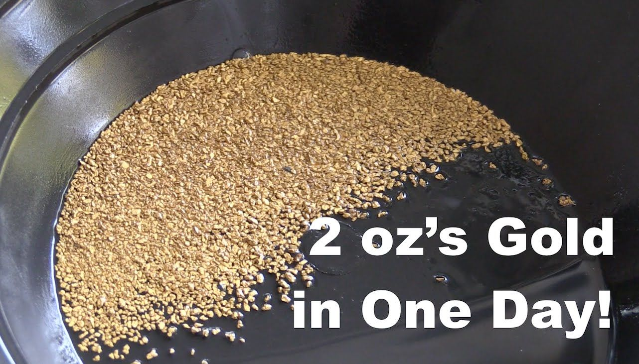 2 oz of gold in one day gold dredging on the rogue river