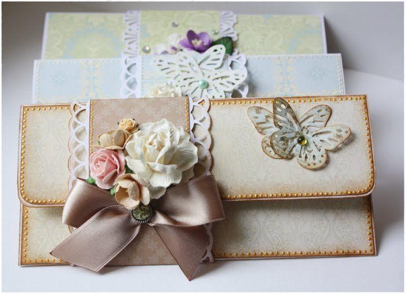 Как сделать из открытки конверт для денег