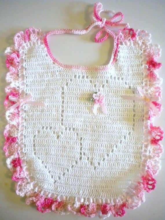 Sweetheart Valentine Crochet Baby Bib   Tejidos   Pinterest   Bebe ...