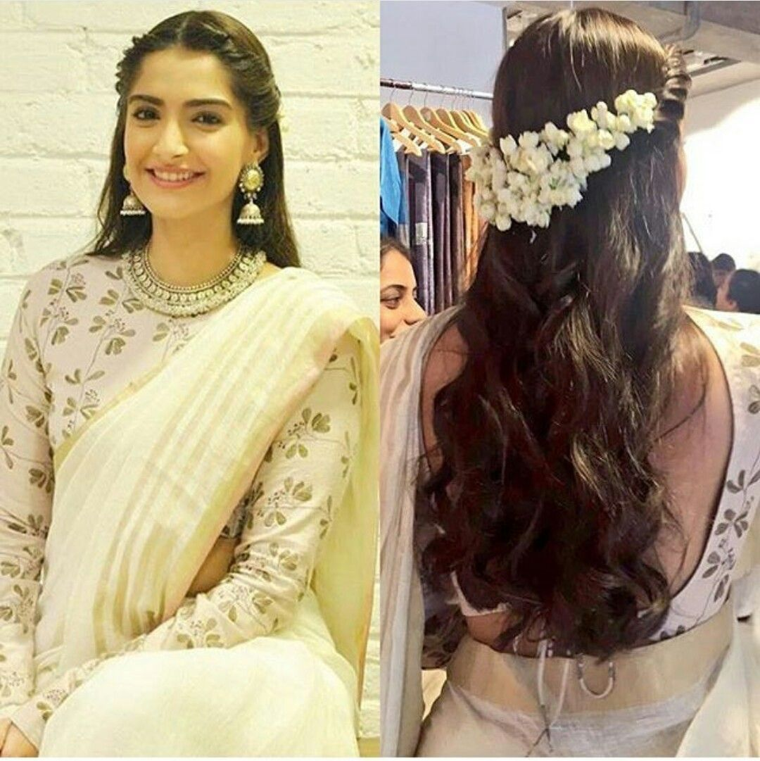 Image Result For Beadwork Kerala Saree Engagement Hairstyles Traditional Hairstyle Indian Hairstyles