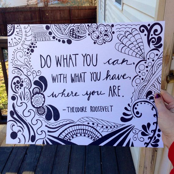 Perfect For Your Office Or Home Hand Drawn Inspirational Theodore
