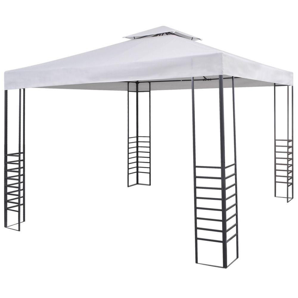 Outdoor Canopy Sun Shade Shelter Pop Up Shelter Garden Gazebo 9 8 X9 8 White Unbranded Garden Gazebo Gazebo Backyard Gazebo