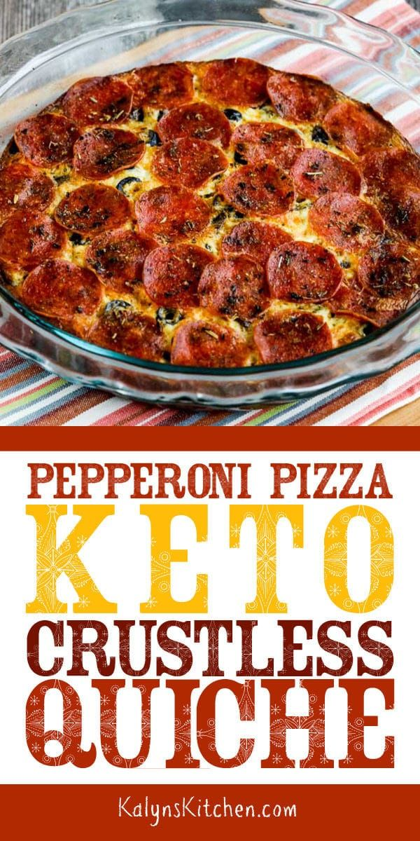 Pepperoni Pizza Keto Crustless Quiche (Video) #ketodinnerrecipes