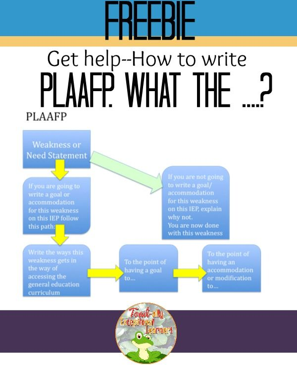 Plaafp What Iep Visually Impaired Students Education Poster