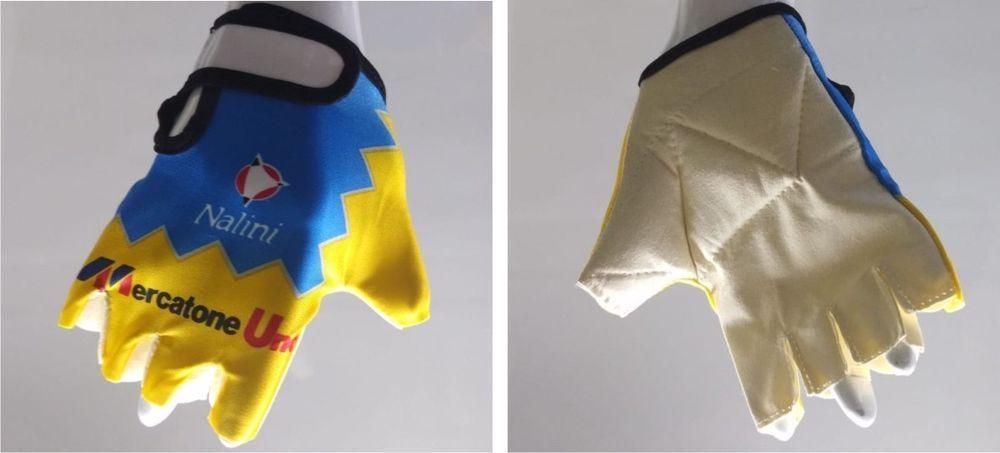 vasta selezione di 462b2 b723b Guanti ciclismo vintage team mercatone uno cycling gloves ...