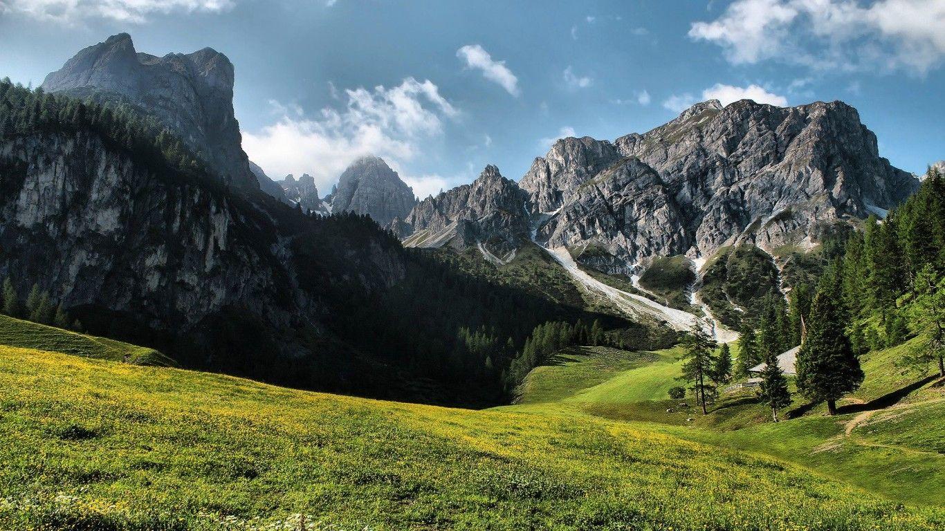 Green Grass Mountains Desktop Wallpapers And Backgrounds