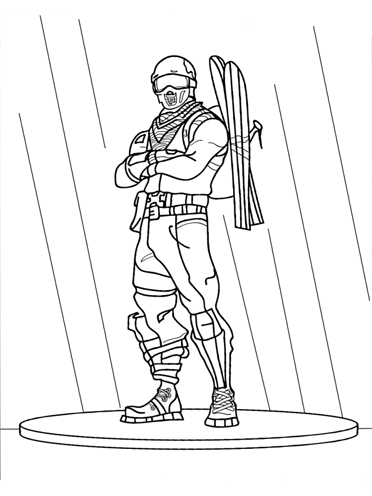 Free Fortnite Game Coloring Pages Gifts For Boys